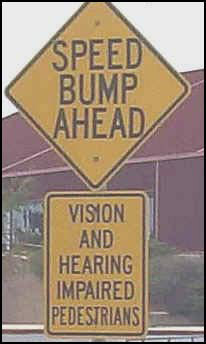 Funny Speed Bump Signs